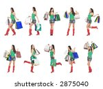 shopping girl pose. | Shutterstock . vector #2875040