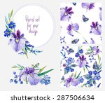 Watercolor Floral Set Template...