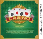 casino background poker and... | Shutterstock .eps vector #287507216