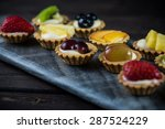mini pastry tartlets with fresh ... | Shutterstock . vector #287524229