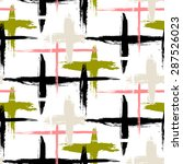 vector seamless bold plaid... | Shutterstock .eps vector #287526023