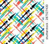 vector seamless bold plaid... | Shutterstock .eps vector #287527430