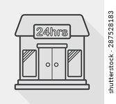 building convenient store flat... | Shutterstock .eps vector #287528183