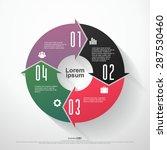 vector circle arrows for... | Shutterstock .eps vector #287530460