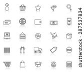 e commerce line icons with... | Shutterstock .eps vector #287537834