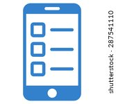mobile test icon from business... | Shutterstock . vector #287541110
