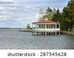 a bandstand pavilion at... | Shutterstock . vector #287545628