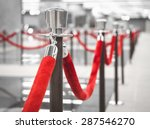 red carpet fence pole with red... | Shutterstock . vector #287546270