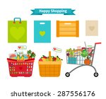 happy shopping concept. only... | Shutterstock .eps vector #287556176
