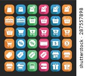 flat shopping icon set vector ... | Shutterstock .eps vector #287557898