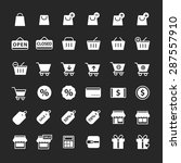 simple shopping icon set vector ... | Shutterstock .eps vector #287557910