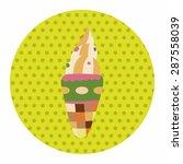 ice cream cartoon elements... | Shutterstock .eps vector #287558039
