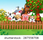 collection farm animals  | Shutterstock .eps vector #287558708