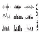Sound Wave Icon Set. Music...