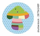 mushroom cartoon theme elements ...   Shutterstock .eps vector #287561489