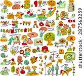 set creative people color... | Shutterstock .eps vector #287563259