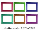 colorful photo frame isolated...   Shutterstock . vector #287566970