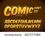 vector of comic alphabets | Shutterstock .eps vector #287577080