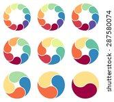 set of vector circles for... | Shutterstock .eps vector #287580074