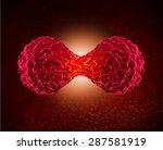 cancer cell dividing concept as ... | Shutterstock . vector #287581919