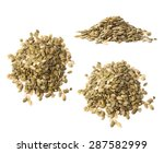 pile of pumpkin seeds isolated... | Shutterstock . vector #287582999