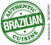 brazilian cuisine stamp | Shutterstock .eps vector #287585390