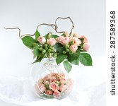 arrangement of roses in a... | Shutterstock . vector #287589368