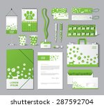 stationery template design with ... | Shutterstock .eps vector #287592704
