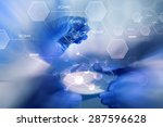 science  chemistry and people... | Shutterstock . vector #287596628