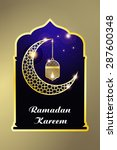 ramadan kareem greeting card  ... | Shutterstock .eps vector #287600348