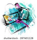 media sketch | Shutterstock .eps vector #287601128