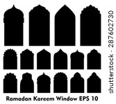 vector islamic door and window... | Shutterstock .eps vector #287602730