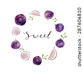 watercolor hand painted wreath...   Shutterstock .eps vector #287606810