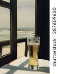 Cold Beer On Cafe Terrace With...
