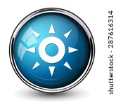 weather icon   button | Shutterstock .eps vector #287616314
