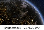 planet earth europe zone with... | Shutterstock . vector #287620190