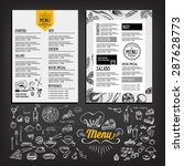 cafe menu restaurant brochure.... | Shutterstock .eps vector #287628773