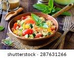 delicious homemade vegetarian... | Shutterstock . vector #287631266