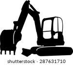 excavator sillhouette...