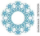 round pattern. persian  arabic  ... | Shutterstock .eps vector #287632454