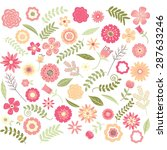 wedding floral seamless pattern.... | Shutterstock .eps vector #287633246