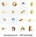 set of new universal company... | Shutterstock . vector #287633468