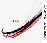 purple and orange color lines... | Shutterstock . vector #287635994