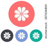 flower icon | Shutterstock .eps vector #287636804