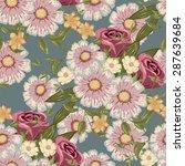 seamless floral pattern  flower ... | Shutterstock . vector #287639684