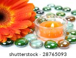 candle and flower | Shutterstock . vector #28765093