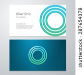 design icon letter o business... | Shutterstock .eps vector #287654378