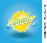 beautiful summer illustrations .... | Shutterstock .eps vector #287657348