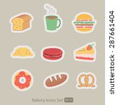 bakery and coffee icons set    Shutterstock .eps vector #287661404