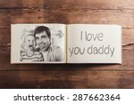 fathers day composition   photo ... | Shutterstock . vector #287662364